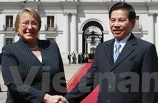 Chủ tịch nước hội đàm với Tổng thống Chile