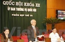 Khai mạc phiên họp 25 Ủy ban Thường vụ Quốc hội