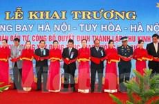 Khai trương đường bay Hà Nội-Tuy Hòa-Hà Nội