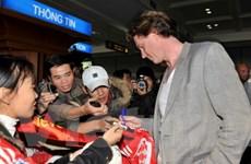 Các cựu ngôi sao M.U và Liverpool đã đến Hà Nội