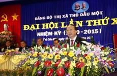 Bình Dương: Đại hội đảng bộ Thị xã Thủ Dầu Một