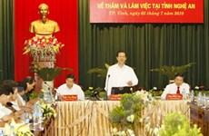 Nghệ An cần tập trung phát triển 11 huyện phía Tây