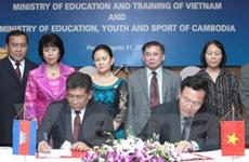 Việt Nam và Campuchia ký kết hợp tác giáo dục