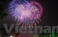 Pháo hoa rực sáng Hà Nội mừng Tết Độc lập