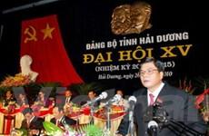Đại hội đại biểu Đảng bộ tỉnh Hải Dương lần thứ XV