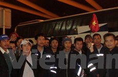 Thêm 63 lao động Việt Nam đã tới sân bay Cairo