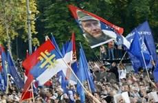 Biểu tình phản đối vụ bắt ông Mladic ở Belgrade