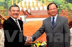 Đoàn cán bộ cấp cao Thông tấn xã VN thăm Lào