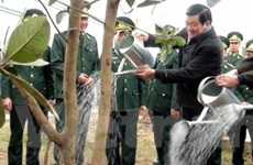Chủ tịch nước phát động Tết trồng cây Xuân 2012