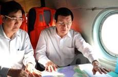 Chủ tịch nước thị sát tuyến đê biển các tỉnh ĐBSCL