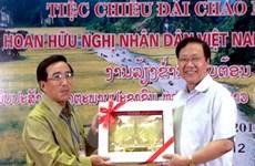 Đại biểu liên hoan hữu nghị Việt-Lào thăm Ninh Bình
