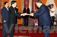 Đại sứ các nước trình quốc thư lên Chủ tịch nước