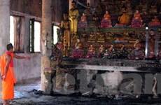 """Thêm 1 vụ cháy chùa Sóc Trăng vì đốt nến """"khủng"""""""