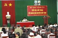 Bí thư Tỉnh ủy Quảng Ngãi đối thoại trực tiếp với dân
