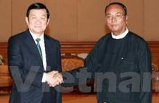 Chủ tịch nước gặp lãnh đạo quốc hội của Myanmar