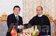 Lãnh đạo Việt Nam và Myanmar ra tuyên bố chung