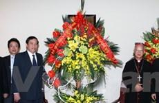 Lãnh đạo Đảng, Mặt trận chúc mừng lễ Giáng sinh