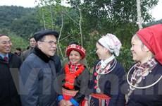 Chủ tịch Quốc hội tiếp xúc cử tri dân tộc thiểu số