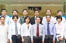 TTXVN làm việc với các Trưởng cơ quan đại diện VN