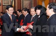 Chủ tịch nước dự lễ bổ nhiệm các chức danh tư pháp