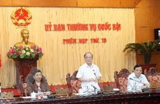Ngày 12/8, khai mạc phiên họp thứ 20 của UBTVQH