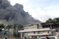 Đã khống chế được vụ hỏa hoạn lớn tại KCN Tân Tạo