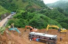 Mưa lớn gây sạt lở nhiều đường ở Điện Biên, Lào Cai