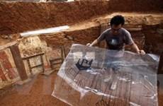 Phát hiện bức bích họa cổ hiếm có tại Trung Quốc