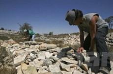 Israel xây mới hàng trăm ngôi nhà tại khu Bờ Tây