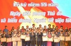Míttinh kỷ niệm 55 năm ngày giải phóng Thủ đô