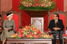 Lãnh đạo Việt Nam tiếp Nữ hoàng Đan Mạch