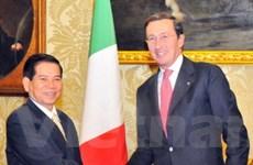 Chủ tịch nước gặp lãnh đạo Hạ viện và các đảng Italy