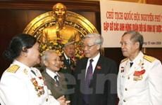 Chủ tịch Quốc hội gặp mặt các Anh hùng quân đội