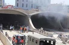 Cháy tại nơi thi công đường dẫn hầm Thủ Thiêm