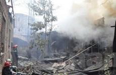 Cháy rụi 2.500m2 xưởng gỗ gây thiệt hại nặng nề