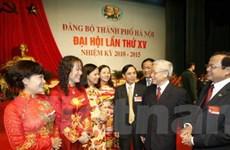Khai mạc Đại hội đại biểu Đảng bộ thành phố Hà Nội