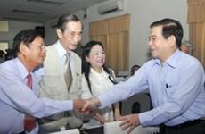 Chủ tịch nước tiếp xúc với cử tri tại TP. Hồ Chí Minh