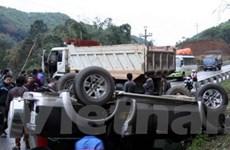 2 vụ tai nạn liêp tiếp gây ách tắc trên Quốc lộ 70