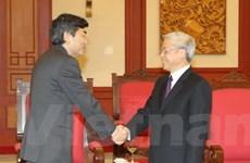 Tổng Bí thư tiếp hai nhà lãnh đạo dự hội nghị ADB