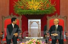 Tổng Bí thư tiếp Đại sứ Lào sang nhận nhiệm vụ