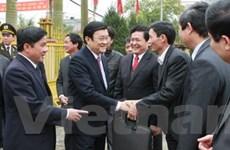 Chủ tịch nước dâng hương tại đền Trần Thái Bình