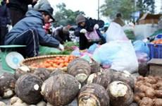 Giá rau xanh và thực phẩm tại Hà Nội tăng nhẹ