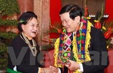 Chủ tịch nước tiếp đoàn đại biểu tỉnh Hà Giang