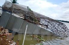 Ban bố tình trạng khẩn cấp sạt lở đất bờ sông Hậu