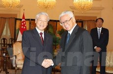 Tổng Bí thư hội kiến Tổng thống Cộng hòa Singapore