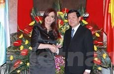 Chủ tịch nước hội đàm với Tổng thống Argentina