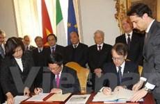 Thiết lập quan hệ đối tác chiến lược Việt Nam-Italy