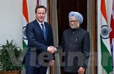Lãnh đạo Anh-Ấn hội đàm hợp tác nhiều lĩnh vực