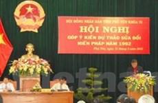 Tây Ninh, Phú Yên lấy ý kiến về sửa đổi Hiến pháp