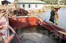 Bắc Ninh tăng cường xử lý khai thác cát trái phép